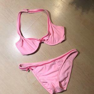 Daffy Waterwear-Pink Bikini/TinyFushia Bows🎀🎀